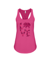 Elephant Love Tank-Top - Hot Pink - Berry / S - Clothing elephants womens t-shirts