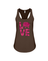 Elephant Love Tank-Top - Hot Pink - Chocolate / S - Clothing elephants womens t-shirts