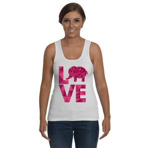Elephant Love Tank-Top - Hot Pink - Clothing elephants womens t-shirts