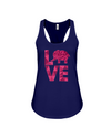 Elephant Love Tank-Top - Hot Pink - Navy / S - Clothing elephants womens t-shirts