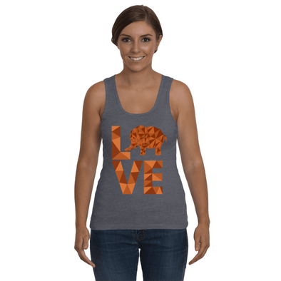 Elephant Love Tank-Top - Orange - Clothing elephants womens t-shirts