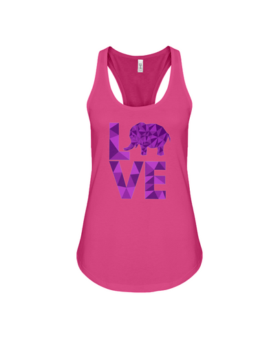 Elephant Love Tank-Top - Purple - Berry / S - Clothing elephants womens t-shirts