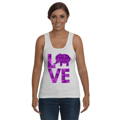 Elephant Love Tank-Top - Purple - Clothing elephants womens t-shirts