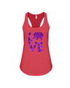 Elephant Love Tank-Top - Purple - Red / S - Clothing elephants womens t-shirts