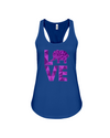 Elephant Love Tank-Top - Purple - True Royal / S - Clothing elephants womens t-shirts