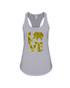 Elephant Love Tank-Top - Yellow - Athletic Heather / S - Clothing elephants womens t-shirts