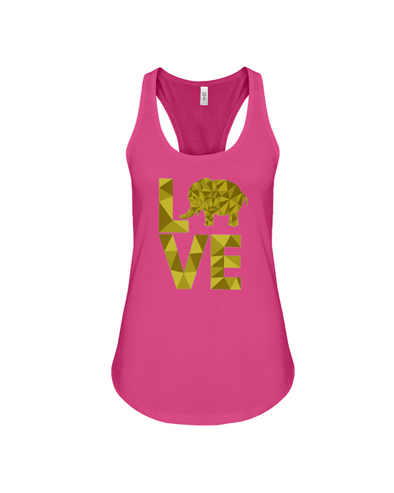 Elephant Love Tank-Top - Yellow - Berry / S - Clothing elephants womens t-shirts
