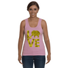 Elephant Love Tank-Top - Yellow - Clothing elephants womens t-shirts