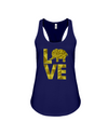 Elephant Love Tank-Top - Yellow - Navy / S - Clothing elephants womens t-shirts