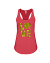 Elephant Love Tank-Top - Yellow - Red / S - Clothing elephants womens t-shirts