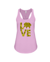Elephant Love Tank-Top - Yellow - Soft Pink / S - Clothing elephants womens t-shirts