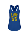 Elephant Love Tank-Top - Yellow - True Royal / S - Clothing elephants womens t-shirts