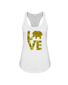 Elephant Love Tank-Top - Yellow - White / S - Clothing elephants womens t-shirts