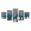 Elephants In The Water - Canvas Wall Art - Blue/Turquiose Elephants - Wall Art canvas prints elephants