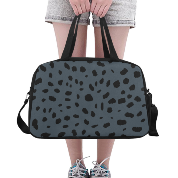 Fitness and Travel Bag - Custom Cheetah Pattern - Charcoal Cheetah - Accessories bags cheetahs