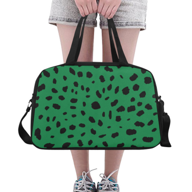 Fitness and Travel Bag - Custom Cheetah Pattern - Green Cheetah - Accessories bags cheetahs