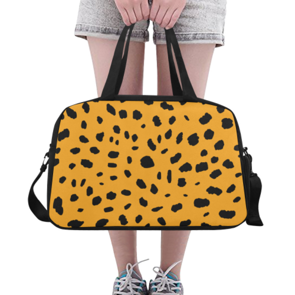 Fitness and Travel Bag - Custom Cheetah Pattern - Orange Cheetah - Accessories bags cheetahs