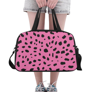 Fitness and Travel Bag - Custom Cheetah Pattern - Pink Cheetah - Accessories bags cheetahs