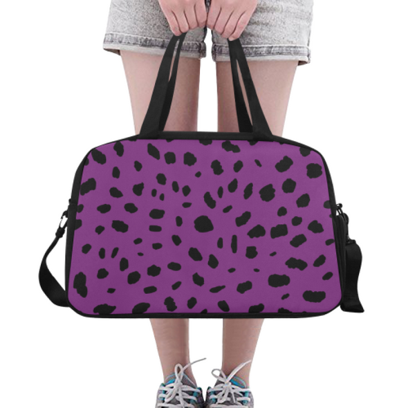 Fitness and Travel Bag - Custom Cheetah Pattern - Purple Cheetah - Accessories bags cheetahs
