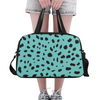 Fitness and Travel Bag - Custom Cheetah Pattern - Turquoise Cheetah - Accessories bags cheetahs