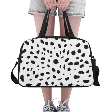 Fitness and Travel Bag - Custom Cheetah Pattern - White Cheetah - Accessories bags cheetahs