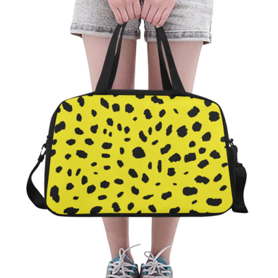 Fitness and Travel Bag - Custom Cheetah Pattern - Yellow Cheetah - Accessories bags cheetahs