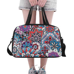 Fitness and Travel Bag - Custom Mandala Pattern - Purple Mandala - Accessories bags hot new items mandalas