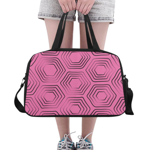 Fitness and Travel Bag - Custom Turtle Pattern - Hot Pink Turtle - Accessories bags turtles