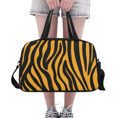 Fitness and Travel Bag - Custom Zebra Pattern - Orange Zebra - Accessories bags zebras