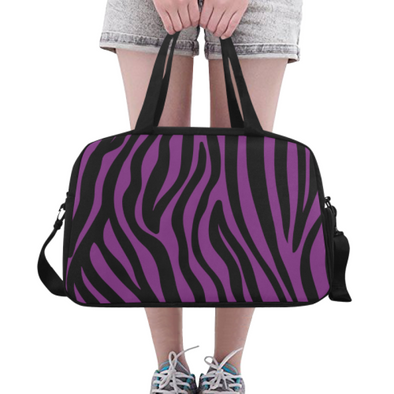 Fitness and Travel Bag - Custom Zebra Pattern - Purple Zebra - Accessories bags zebras