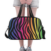 Fitness and Travel Bag - Custom Zebra Pattern - Rainbow Zebra - Accessories bags zebras