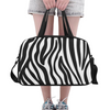 Fitness and Travel Bag - Custom Zebra Pattern - White Zebra - Accessories bags zebras