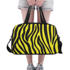 Fitness and Travel Bag - Custom Zebra Pattern - Yellow Zebra - Accessories bags zebras