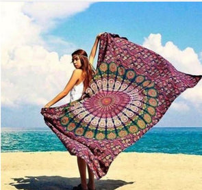 Hippie Mandala Tapestry/Beach Towel - 4 - Beachware beachware housewares indian mandalas tapestries