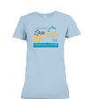 If You Dont Love Dolphins Too Then We Have A Problem! Statement T-Shirt - Baby Blue / S - Clothing dolphins womens t-shirts