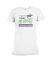 If You Dont Love Rhinos Too Then We Have A Problem! Statement T-Shirt - White / S - Clothing rhinos womens t-shirts