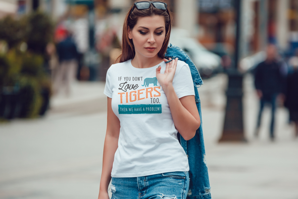If You Dont Love Rhinos Too Then We Have A Problem! Statement T-Shirt - Clothing rhinos womens t-shirts