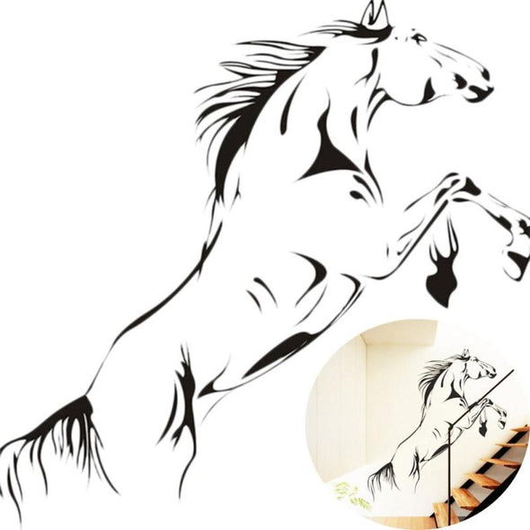 Basic Drawing of Jumping Horse Wall Sticker - Wall Art horses wall stickers