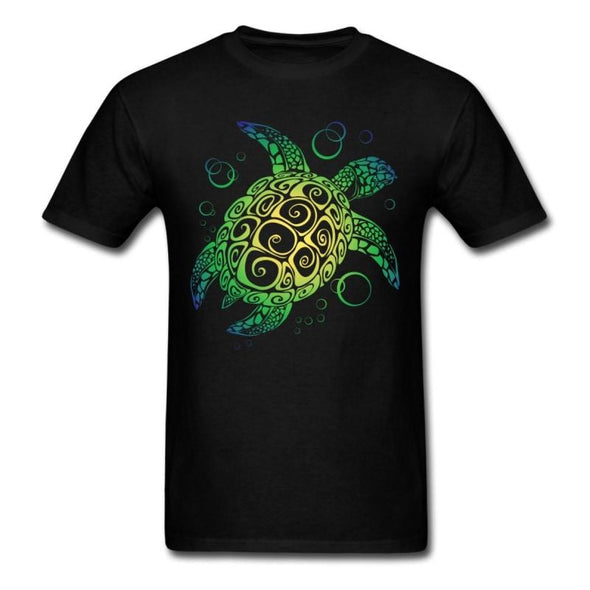 Mens Sea Turtle Short Sleeve T-Shirt - Black / S - Clothing bohemian mens t-shirts turtles