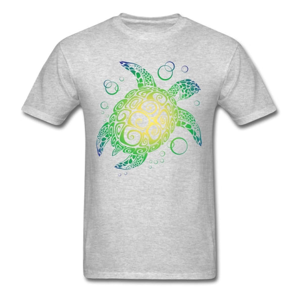 Mens Sea Turtle Short Sleeve T-Shirt - Gray / S - Clothing bohemian mens t-shirts turtles