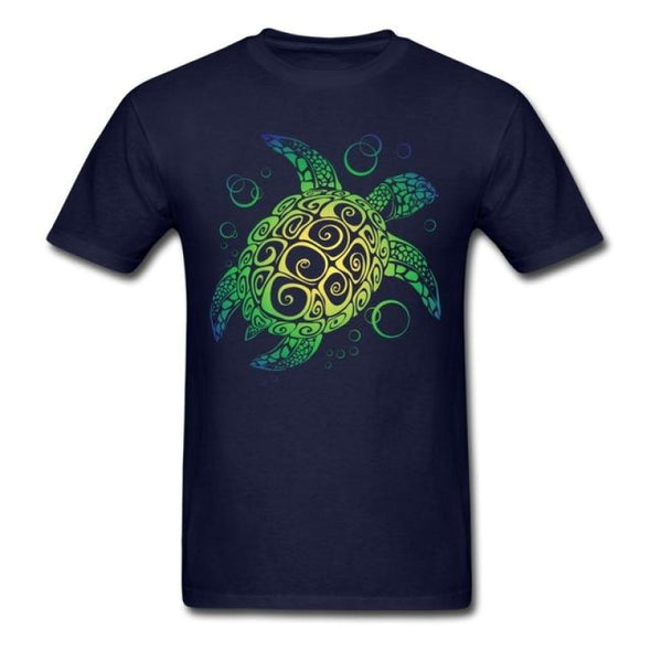 Mens Sea Turtle Short Sleeve T-Shirt - Navy / S - Clothing bohemian mens t-shirts turtles