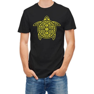 Mens Tribal Turtle Short Sleeve T-Shirt - S - Clothing mens t-shirts tribal turtles
