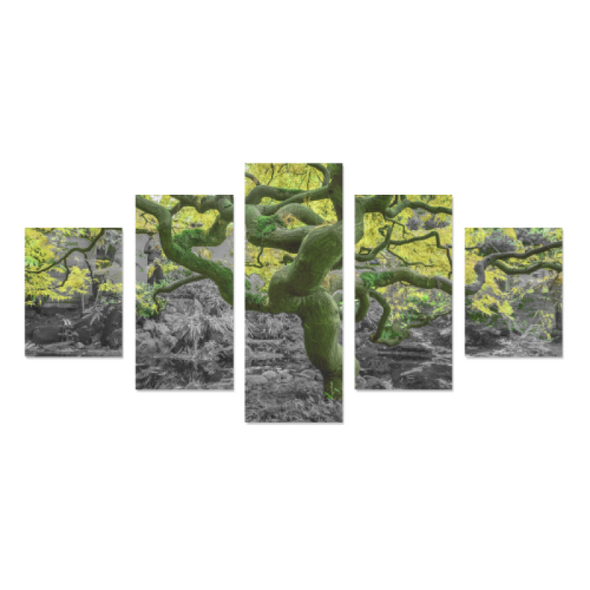 Old Wise Tree in the Forest - Canvas Wall Art - Old Wise Tree - Yellow Canvas Wall Art Z (5 pieces) - Wall Art canvas prints trees