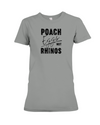Poach Eggs Not Rhinos Statement T-Shirt - Design 1 - Deep Heather / S - Clothing rhinos womens t-shirts