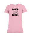 Poach Eggs Not Rhinos Statement T-Shirt - Design 1 - Pink / S - Clothing rhinos womens t-shirts