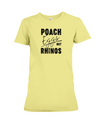 Poach Eggs Not Rhinos Statement T-Shirt - Design 1 - Yellow / S - Clothing rhinos womens t-shirts