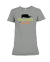Poachers Suck Statement (Rhinos) T-Shirt - Design 1 - Deep Heather / S - Clothing rhinos womens t-shirts
