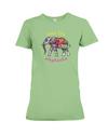 Save the Elephants Statement T-Shirt - Design 1 - Heather Green / S - Clothing elephants womens t-shirts