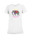 Save the Elephants Statement T-Shirt - Design 1 - White / S - Clothing elephants womens t-shirts