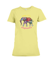 Save the Elephants Statement T-Shirt - Design 1 - Yellow / S - Clothing elephants womens t-shirts
